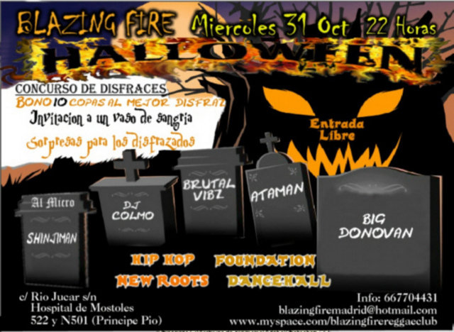 Fiesta Halloween Blazing fire