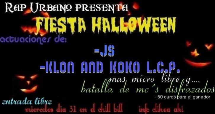 Fiesta Halloween Rap Urbano