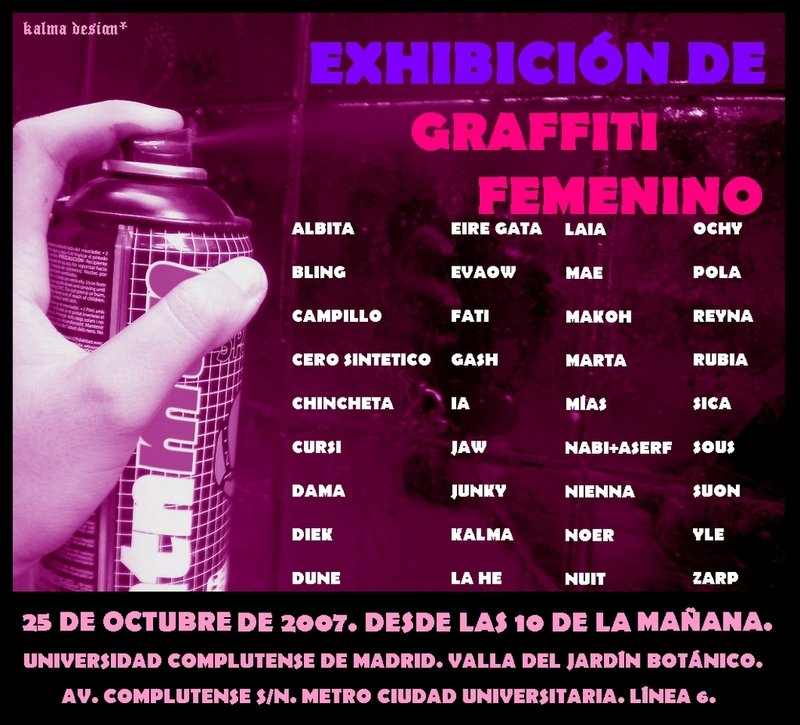 Graffiti femenino en Ciudad Universitaria (25 oct) | Hiphop Madrid