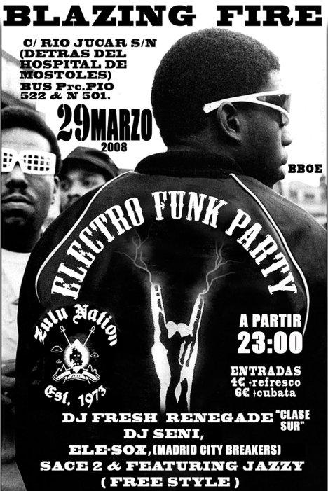 Electro funk party en Blazing fire
