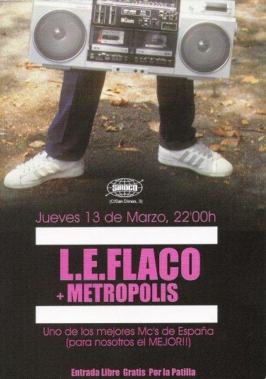 L.E. Flaco en concierto en Siroco