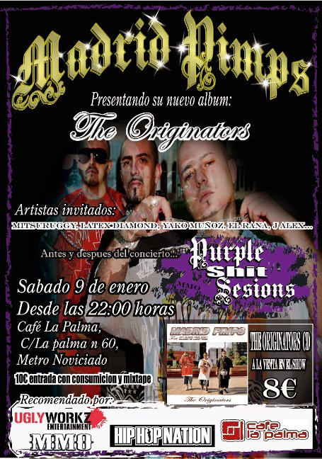 Presentacion The originators de Madrid pimps